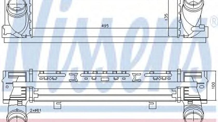 Intercooler, compresor BMW Seria 4 Cabriolet (F33, F83) (2013 - 2016) NISSENS 96450 piesa NOUA