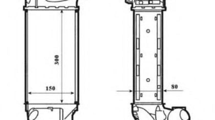 Intercooler, compresor CITROEN C4 I (LC) (2004 - 2011) NRF 30195 piesa NOUA