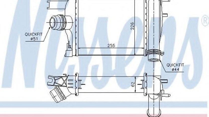 Intercooler, compresor DACIA LOGAN II (2012 - 2016) NISSENS 96529 piesa NOUA