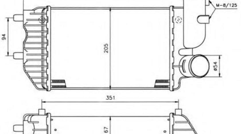 Intercooler, compresor FIAT SCUDO combinato (220P) (1996 - 2006) NRF 30066A piesa NOUA