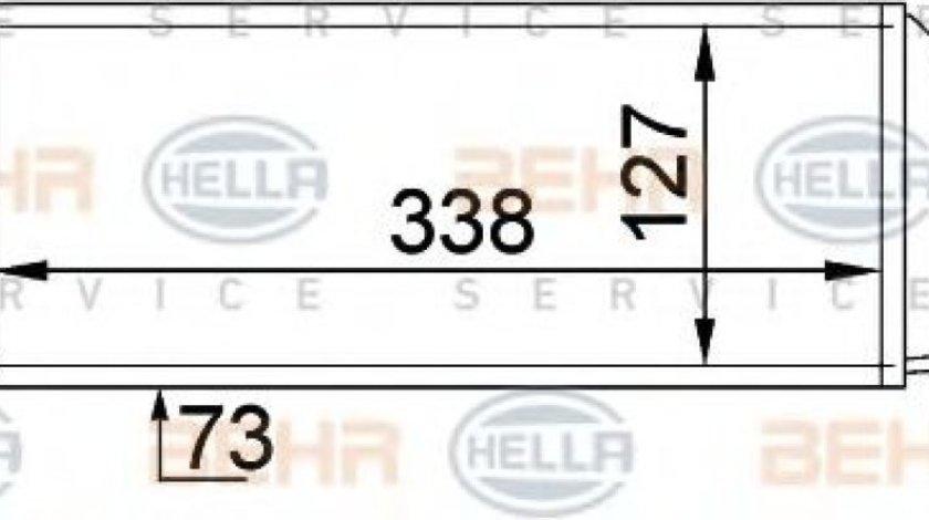 Intercooler, compresor FORD FIESTA IV (JA, JB) (1995 - 2002) HELLA 8ML 376 746-621 piesa NOUA