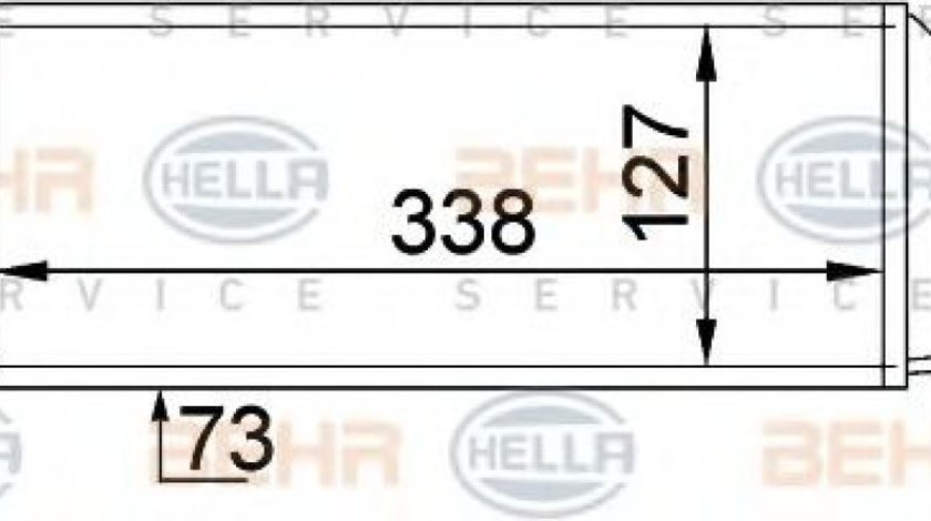 Intercooler, compresor FORD FOCUS (DAW, DBW) (1998 - 2007) HELLA 8ML 376 746-621 piesa NOUA