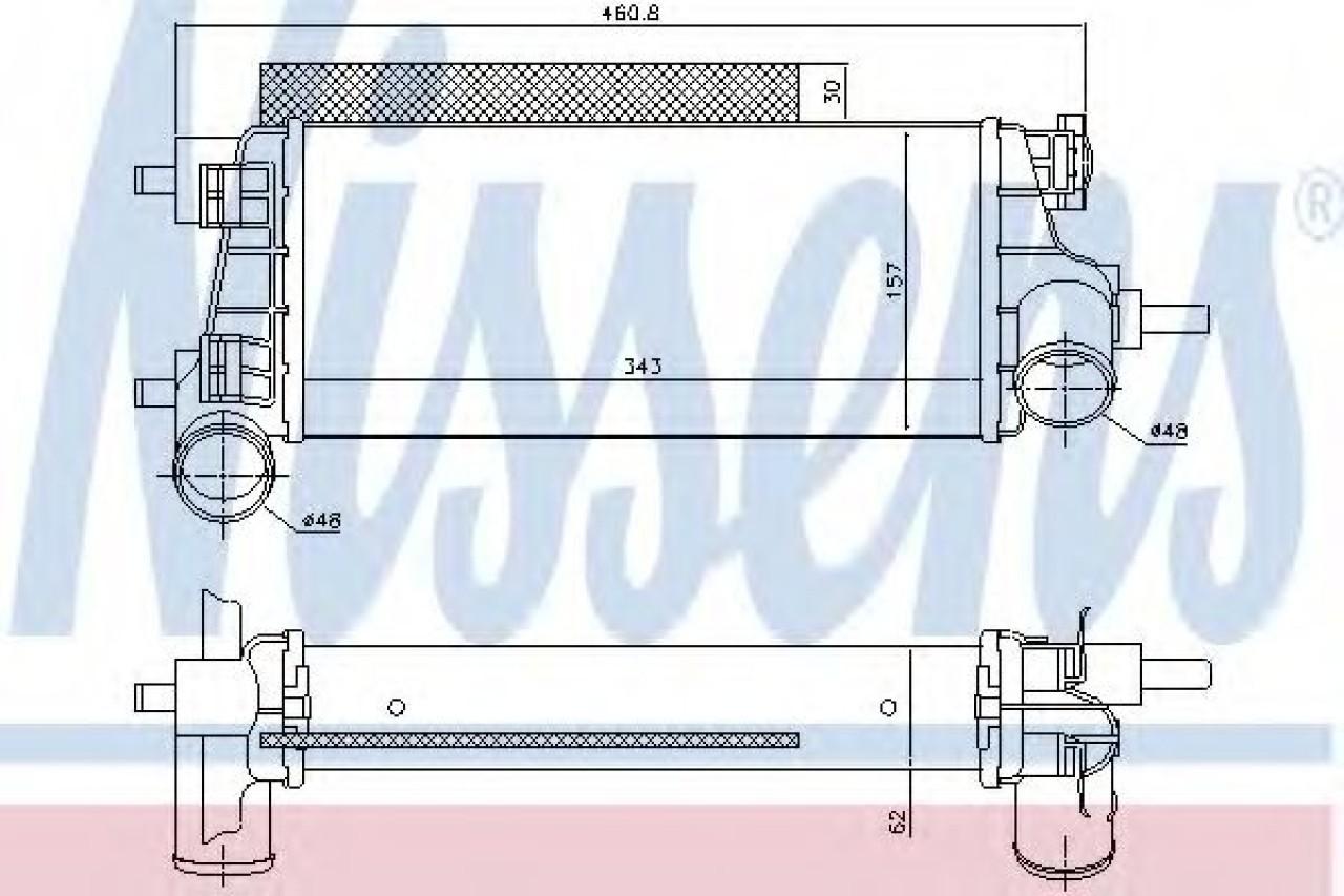 Intercooler, compresor FORD GRAND C-MAX (DXA) (2010 - 2016) NISSENS 96490 piesa NOUA