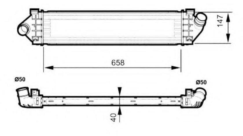 Intercooler, compresor FORD MONDEO IV Turnier (BA7) (2007 - 2016) NRF 30515 piesa NOUA