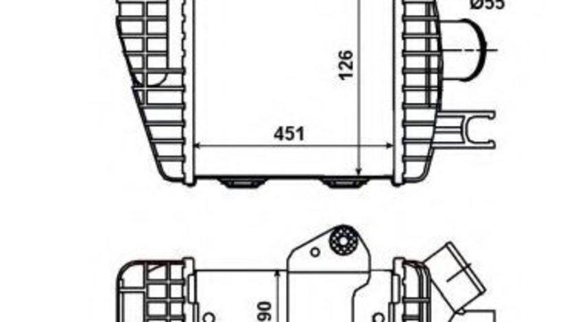 Intercooler, compresor HYUNDAI TUCSON (JM) (2004 - 2010) NRF 30371 piesa NOUA