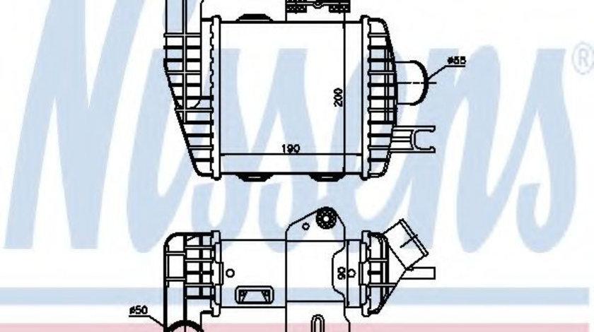Intercooler, compresor HYUNDAI TUCSON (JM) (2004 - 2010) NISSENS 96661 piesa NOUA