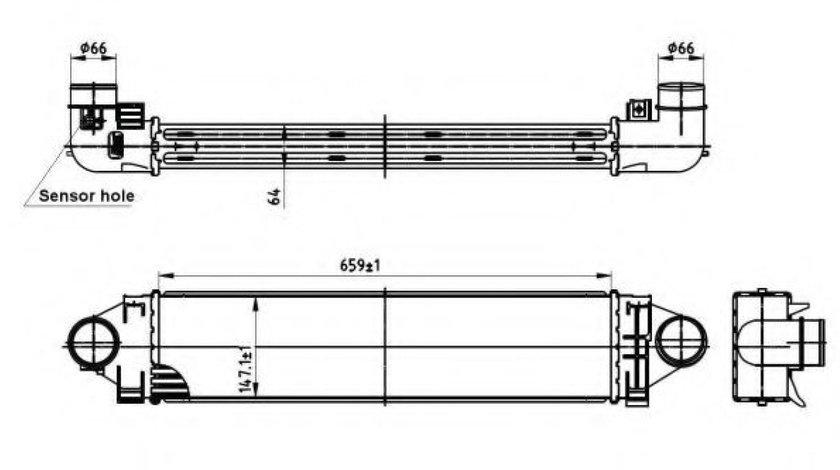Intercooler, compresor LAND ROVER FREELANDER 2 (LF, FA) (2006 - 2014) NRF 30304 piesa NOUA