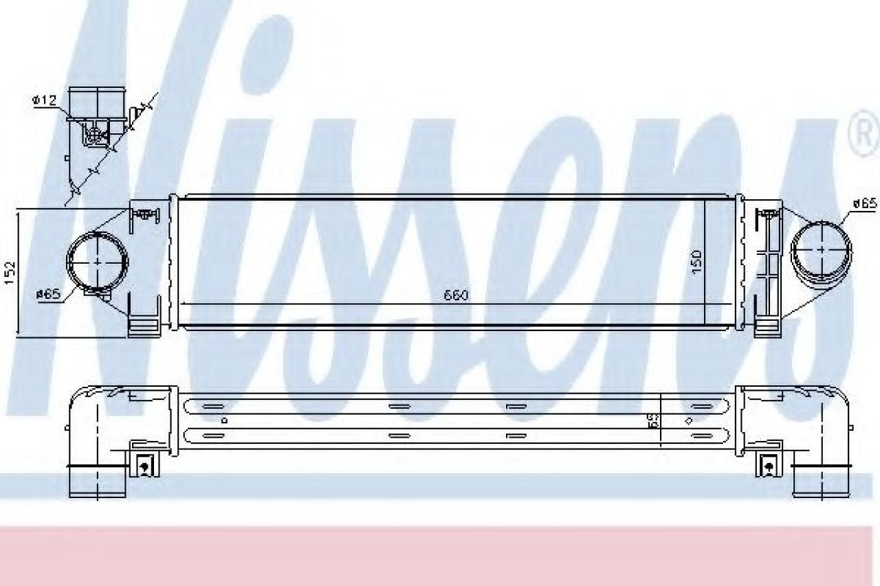 Intercooler, compresor LAND ROVER RANGE ROVER EVOQUE (LV) (2011 - 2016) NISSENS 96561 piesa NOUA