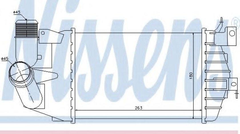 Intercooler, compresor OPEL ASTRA H Combi (L35) (2004 - 2016) NISSENS 96587 piesa NOUA
