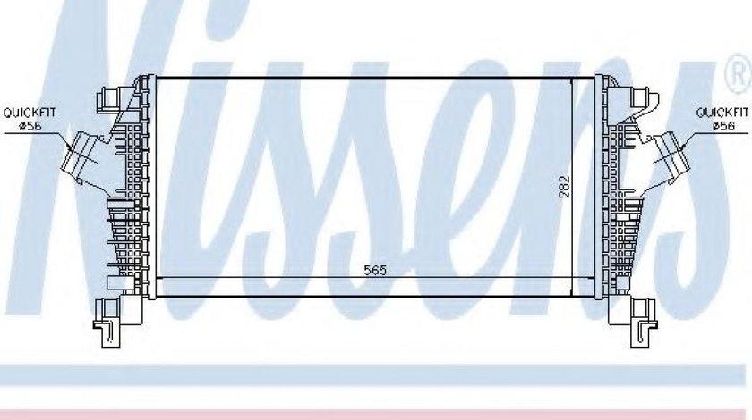 Intercooler, compresor OPEL ASTRA J (2009 - 2016) NISSENS 96556 piesa NOUA