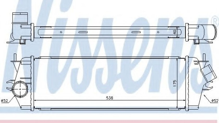 Intercooler, compresor OPEL VIVARO caroserie (F7) (2001 - 2014) NISSENS 96583 piesa NOUA