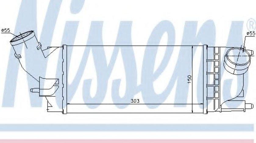 Intercooler, compresor PEUGEOT 407 SW (6E) (2004 - 2016) NISSENS 96599 piesa NOUA