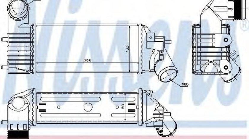 Intercooler, compresor PEUGEOT 607 (9D, 9U) (2000 - 2016) NISSENS 96765 piesa NOUA
