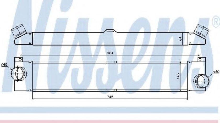 Intercooler, compresor PEUGEOT BOXER caroserie (2006 - 2016) NISSENS 96623 piesa NOUA