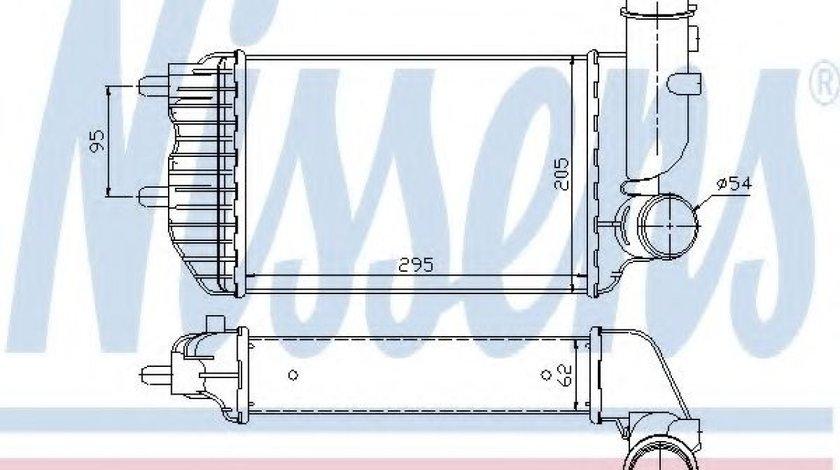 Intercooler, compresor PEUGEOT BOXER platou / sasiu (ZCT) (1994 - 2002) NISSENS 96889 piesa NOUA