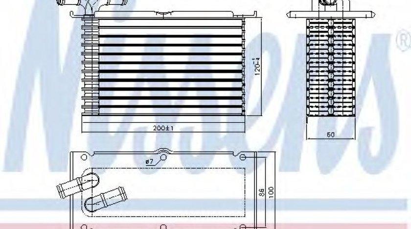 Intercooler, compresor SEAT ALTEA (5P1) (2004 - 2016) NISSENS 96470 piesa NOUA
