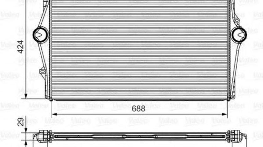 Intercooler, compresor VOLVO S80 I (TS, XY) (1998 - 2006) VALEO 818281 piesa NOUA