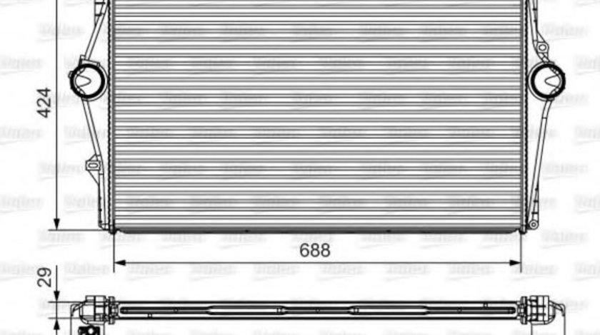 Intercooler, compresor VOLVO S80 I (TS, XY) (1998 - 2006) VALEO 818283 piesa NOUA