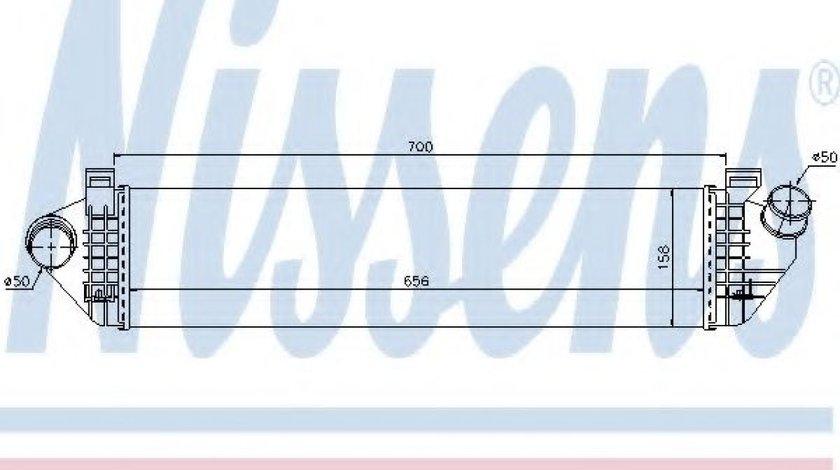 Intercooler, compresor VOLVO V40 Hatchback (2012 - 2016) NISSENS 96721 piesa NOUA