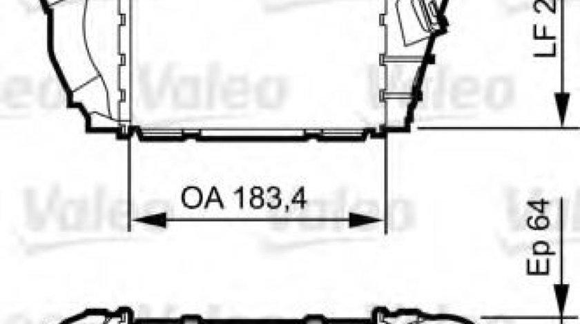 Intercooler, compresor VW GOLF IV (1J1) (1997 - 2005) VALEO 817557 piesa NOUA