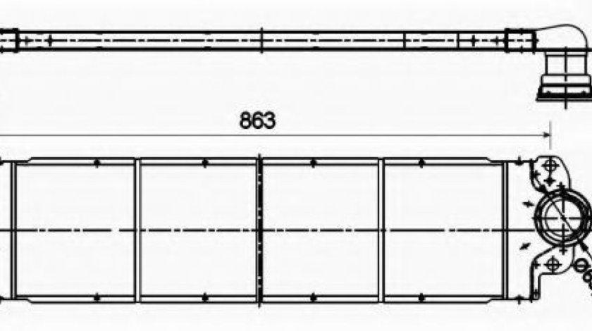 Intercooler, compresor VW MULTIVAN V (7HM, 7HN, 7HF, 7EF, 7EM, 7EN) (2003 - 2015) NRF 30354 piesa NOUA