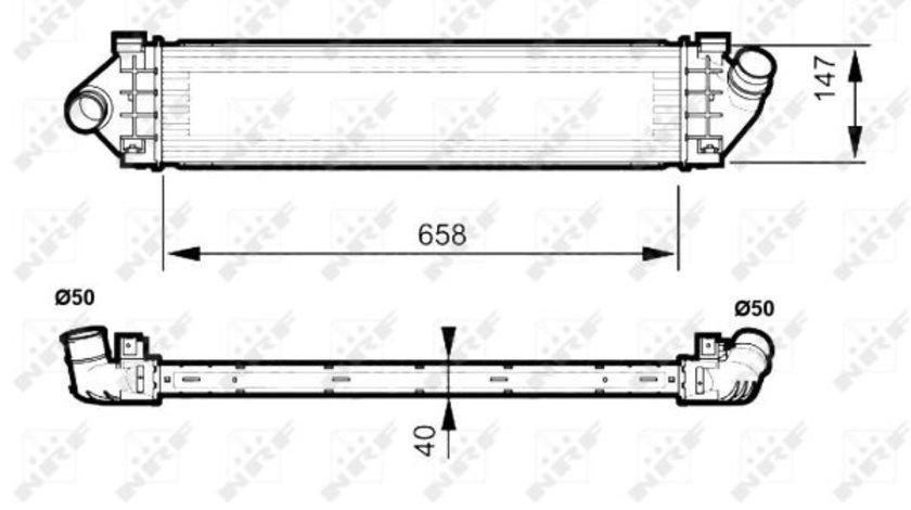 Intercooler VOLVO S60 II, S80 II, V60 I, V70 III; FORD GALAXY, MONDEO IV, S-MAX 1.6 d 1.8D 2.0 d dupa 2006