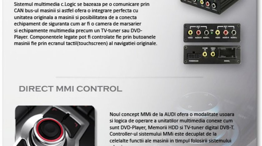 Interfata audio Ipod Iphone integrare oem Audi MMI 2G