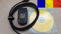 Interfata auto VCDS VAG COM 19.6 Hex V2 limba Roma...