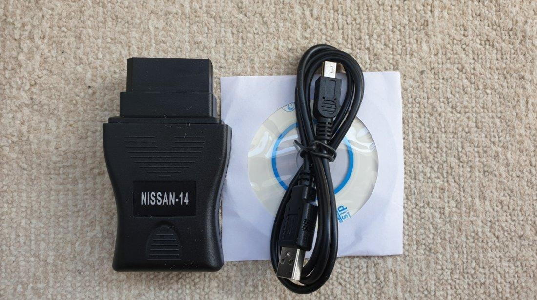 Interfata diagnoza auto tester Nissan Consult USB 14 pini - pana in 2001