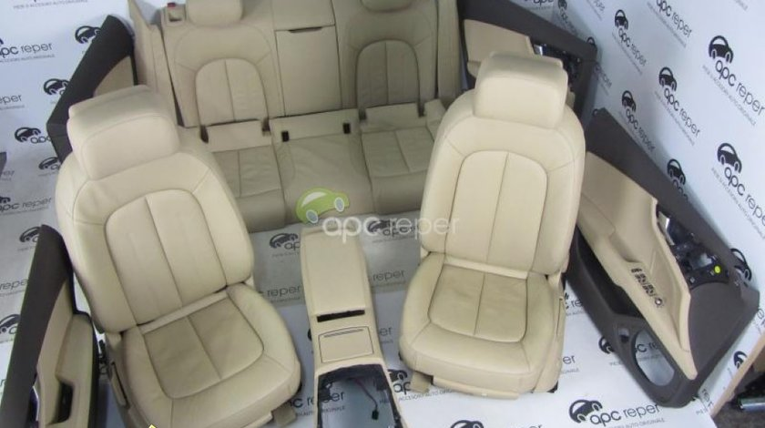 Interior Audi A7 4G8 Piele Bej/Crem, Scaune Piele Incalzite Originale, 2.000 km