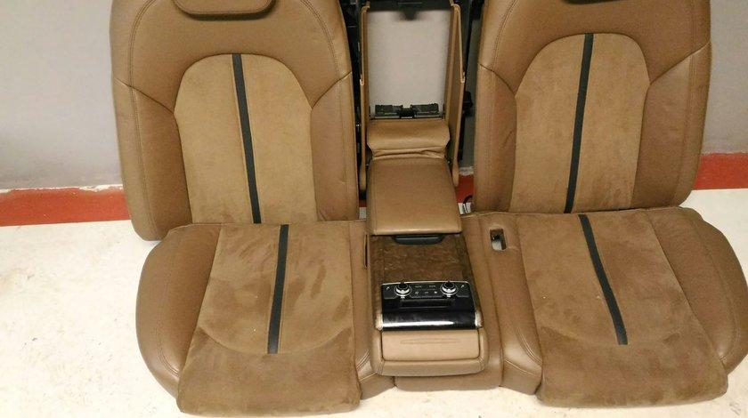 Interior AUDI A8 4H D4 2010-2016 piele+alcantara maro