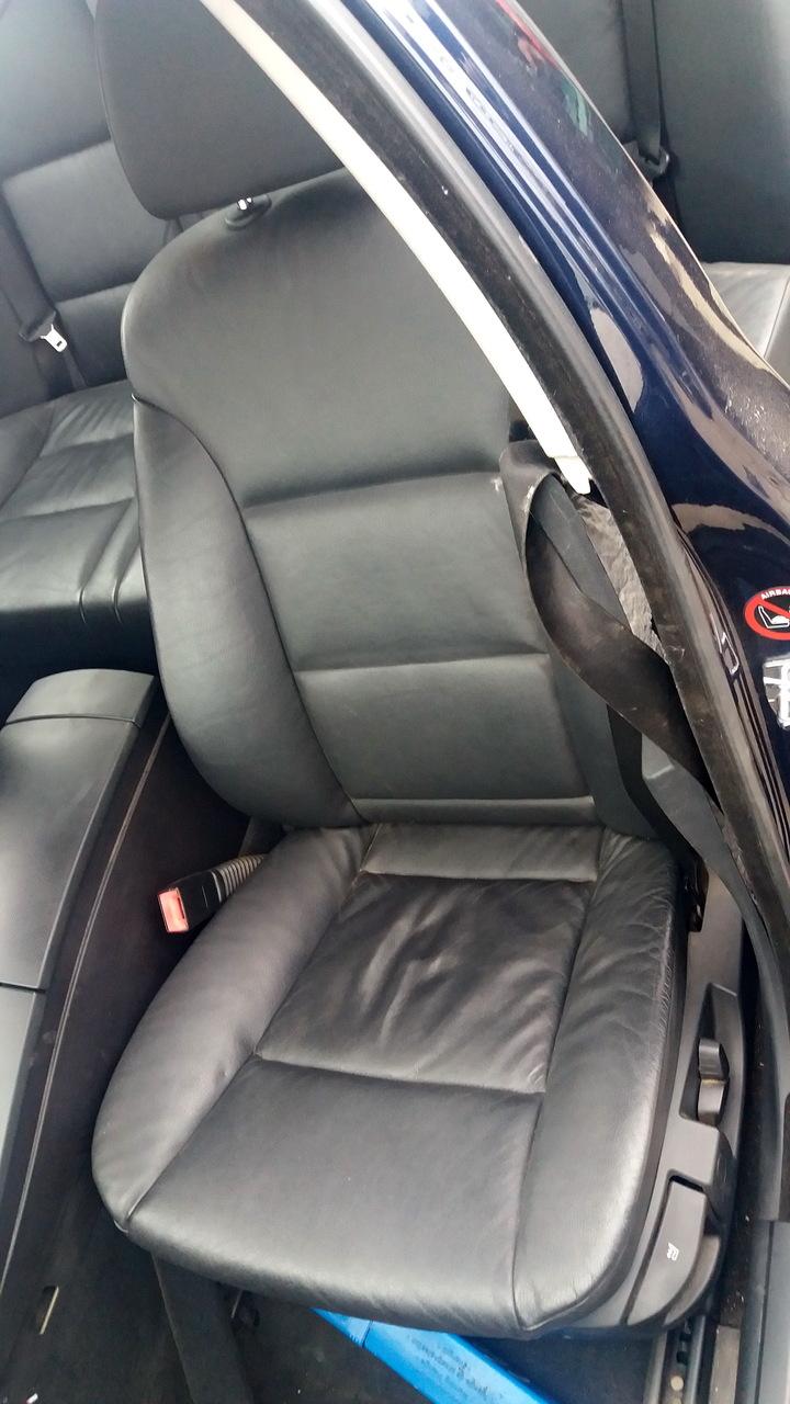 Interior piele negru, BMW Seria 5 E60, caroserie Sedan, fabr. 2005