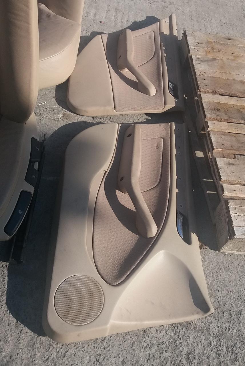 Interior piele/textil crem, BMW Seria 3 E46, caroserie Sedan, fabr. 2001