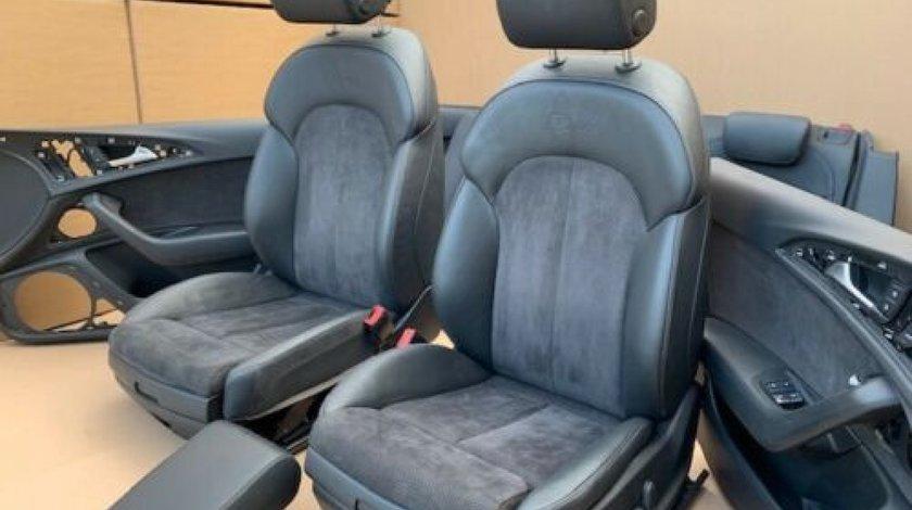 Interior S-line Audi A6 4G Scaune S-line electrice - incalzite