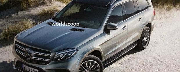 Internetul ne aduce doua noi imagini ale Mercedes-ului GLS