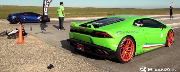 Internetul ne aduce prima cursa intre doua Lamborghini-uri supraalimentate cu compresor mecanic