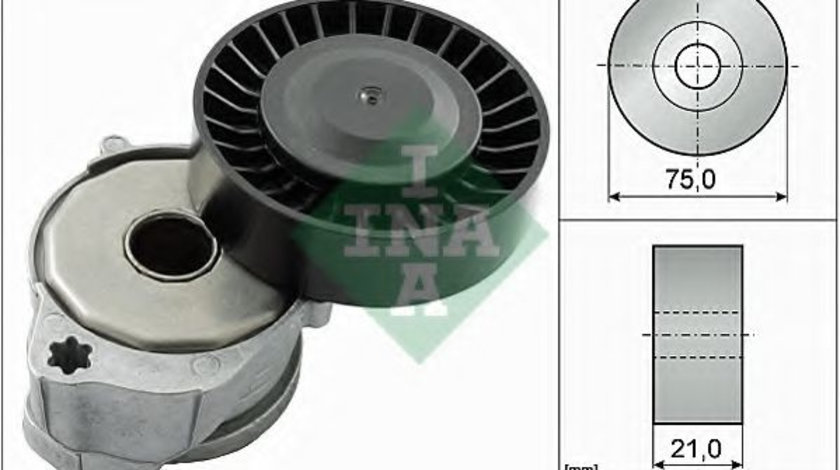 Intinzator,curea transmisie VOLVO V70 III (BW) (2007 - 2016) INA 534 0604 10 piesa NOUA