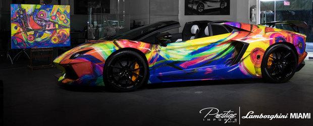 Intre arta si automobil: Lamborghini Aventador Roadster by Duaiv