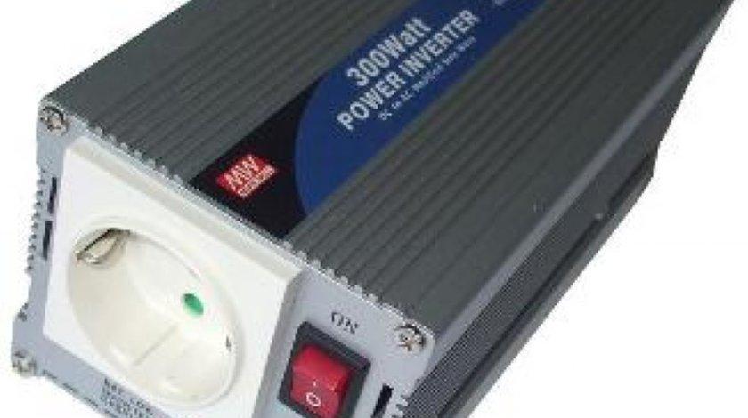 Invertor de tensiune 24 220V c a c c 300W IDEAL PENTRU CAMIOANE