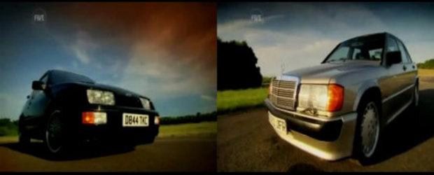 Istoria se repeta: Mercedes 190E 2.5 16v vs Ford Sierra RS Cosworth