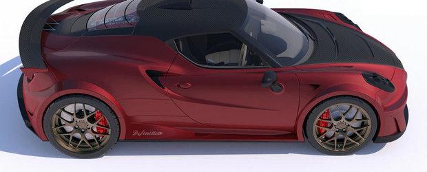 Italienii vor sa concureze Bugatti cu o Alfa 4C de 738 CP si 955 kg