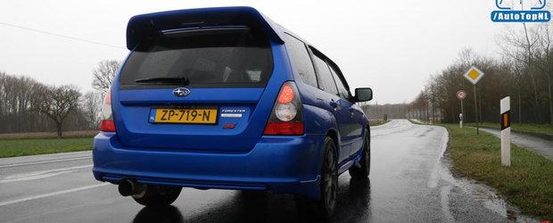 Iti era dor de sunetul unui motor boxer? Test de acceleratie cu Subaru Forester STI