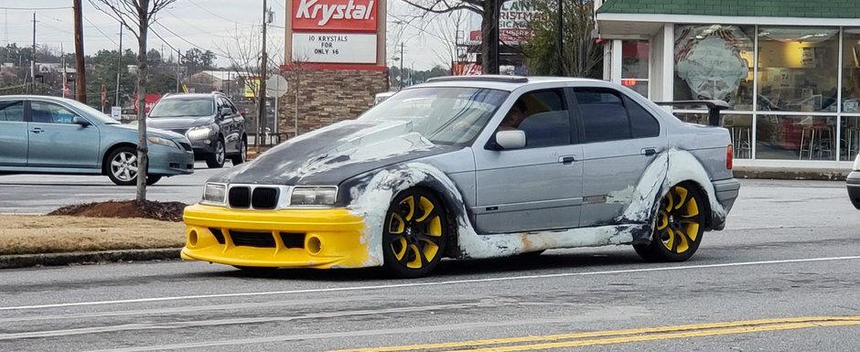 Iti vine sa te speli cu apa sfintita pe ochi dupa ce vezi acest BMW. Proprietarul si-a batut joc de masina