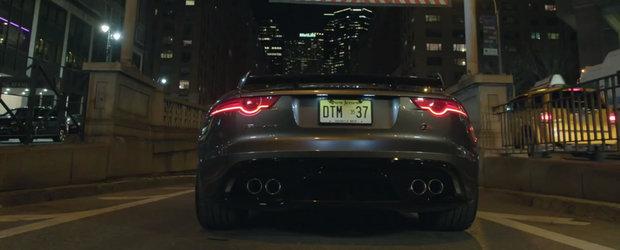 Jaguar inchide un tunel din SUA pentru a ne arata cat de bine suna noul sau F-Type SVR