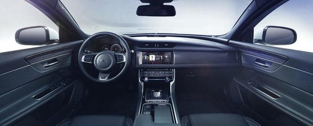 Jaguar prezinta saptamana viitoare un nou XF. Cum arata interiorul