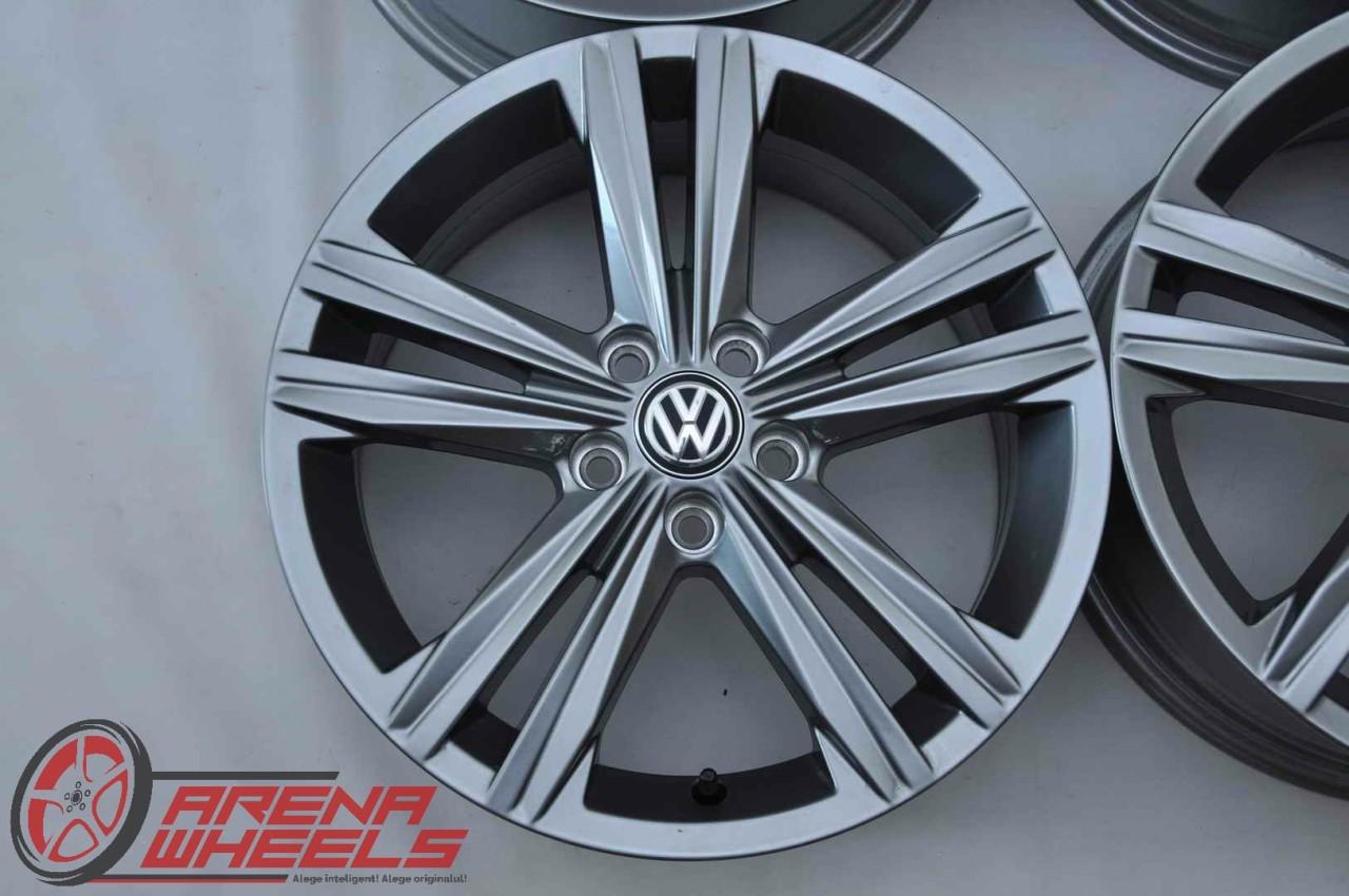 Jante 16 inch Originale VW Polo 6R Sebring Gri Antracit R-Line R16