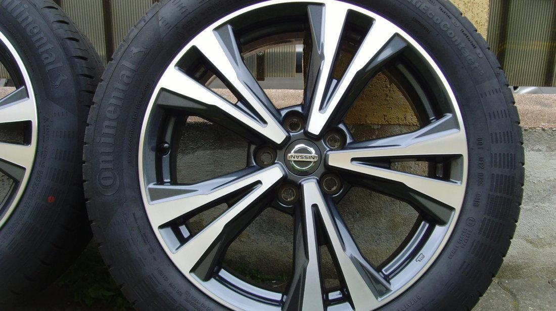 Jante 5x114,3 pe 18 originale Nissan Qashqai din 2019/anvelope vara noi 215/55R18 Conti EcoContact 5