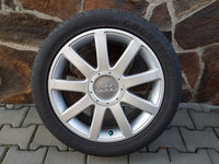 "Jante aliaj 17"" originale Audi S-Line cu anvelope de vara 225/45 R17"