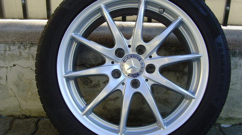 Jante aliaj 5x112 pe 17 orig Mercedes B(W246),A(W176)-Klasse,CLA 2016/Anvelope vara 225/45R17 Conti