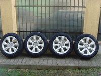 Jante aliaj 5x112 pe 17 originale Audi A4,A6(Allroad),A5,A6,A7,Q5+anvelope vara 225/55 R17 Pirelli